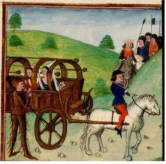 Queen Facus in Carriage. Netherlands. 1470. KB 78 D 48.