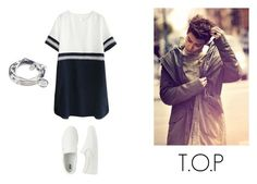 """""""Mr T.O.P"""" by tyradecember95 ❤ liked on Polyvore featuring Uniqlo, Lizzy James, bigbang, yg, ChoiSeungHyun and topbigbang"""