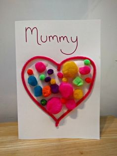 Four Easy Mother's Day Cards for Kids #kids #mothersday #craft #card #easy
