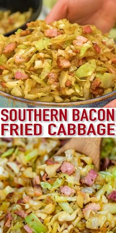 Easy Bacon Fried Cabbage [Video] - Sweet and Savory Meals This is a delicious and super easy dish to make with only a few ingredients. It is flavorful and ready in less than 30 minutes! Vegetable Side Dishes, Vegetable Recipes, Vegetarian Recipes, Cooking Recipes, Healthy Recipes, Keto Recipes, Potato Salad Recipes, Baked Cabbage Recipes, Soul Food Recipes