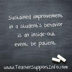 Sustained improvemen