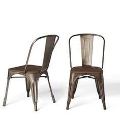 Tabouret Vintage Wood Seat Bistro Chair