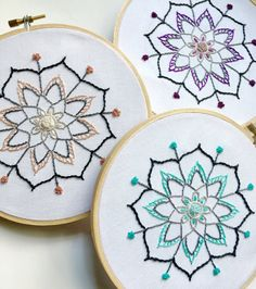 Embroidered mandala | made to order