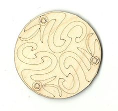 Three Snake Design Unfinished Laser Cut Wood Shape REP3