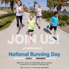 RSVP for #NationalRunningDay and log your miles on June 5 for a chance to win some awesome Brooks swag and other prizes. http://brks.co/16GVWL6