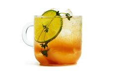 The New England Express - Bon Appétit   Thyme syrup, rum, cider, lime & bitters... Looks good!