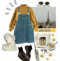 Ideas Clothes Hipster Dungarees For 2019 Grunge Fashion, Look Fashion, 90s Fashion, Korean Fashion, Fashion Outfits, Dr. Martens, Vintage Outfits, Vintage Fashion, Casual Outfits