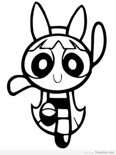 powerpuff girl coloring pages