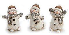 3 x Deko Figur lustiger Schneemann mit Mütze und Schal Figur aus Ton grau braun Höhe 6 cm, Tonfigur witzige Figur Winter Jetzt bestellen unter: http://www.woonio.de/p/3-x-deko-figur-lustiger-schneemann-mit-muetze-und-schal-figur-aus-ton-grau-braun-hoehe-6-cm-tonfigur-witzige-figur-winter/