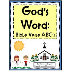 God's Word: Bible Verse ABC's (Alphabet Posters and Coloring Sheets)