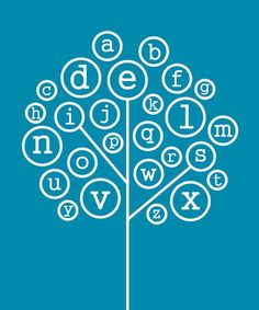 Alphabet Tree Print by Trendography Prints on #zulily !