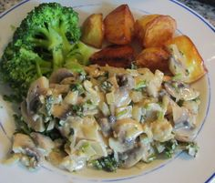 Creamy Mushroom and parsley sauce with chicken