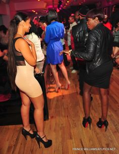 Estelle is in Louboutins and Mya is not? What?