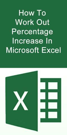 How to Work Out Percentage Increase in Microsoft Excel. #Microsoft #Excel