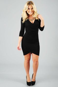 Share to save 10% on  your order instantly!  Out On The Town Dress: Black