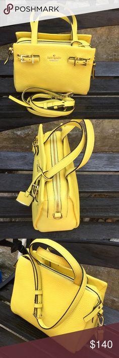Kate Spade Satchel. Color Lemonade. Pebble Leather Kate Spade Satchel   Color Lemonade. 9 x 7 x 4 inches kate spade Bags Satchels