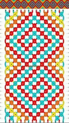 Normal friendship bracelet pattern added by GpailKids. spiral s crazy eight 8 curl curly q. Thread Bracelets, Macrame Bracelets, Bracelets Crafts, Jewelry Bracelets, Embroidery Bracelets, Macrame Patterns, Beading Patterns, Diy Friendship Bracelets Patterns, Simple Friendship Bracelets
