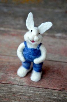 Bear Creek Bunny by Teresa Perleberg.  Sweet needle felted bunny.