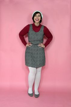 this look from the ModCloth Style Gallery! Cutest community ever. Summer Work Dresses, Dress Work, Wool Tights, Fashion Gallery, Big And Beautiful, Outfit Posts, Modcloth, Dress Patterns, My Style
