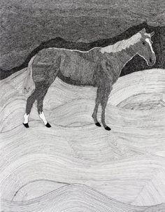 Amazon.com Art: Horse And Country : Ink : Milton Davis