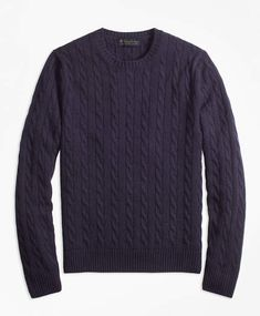Timeless design with rich dimensional colors. lambswool spun in the UK. Perfect weight for layering. Preppy Sweater, Men Sweater, Crewneck Sweater, Cashmere Color, Brooks Brothers Men, Sweater Making, Cashmere Sweaters, Cable Knit, Crew Neck