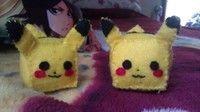 DIY cubed Pikachu plushie (tutorial)