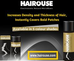 Instant Hair Thickening Products In India :  HAIROUSE‬ which is made from the mother nature is available in 5 shades. It is the best choice to Cover Bald Patches and Thinning of Hair. For more details visit us @ http://hairouse.com/