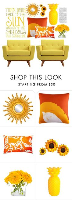 """Sunny!"" by kikiseppr on Polyvore featuring interior, interiors, interior design, home, home decor, interior decorating, La Maison, Queen Street, Frog Hill Designs and Rustic Arrow"