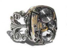 Steampunk ring. Tutorial.
