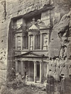 El Khusne, The Rock Temple, Petra (#547)  Francis Frith (British, 1822-1898)