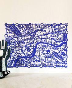 London Paper Cut Map