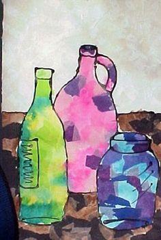 Still life collage (Donna Staten lesson)