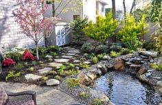 Lovely water elements #garden .