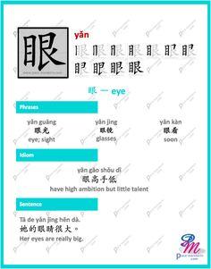 #365Chinese - Character of the Day @ #PaceMandarin yǎn 眼 eye http://www.pace-mandarin.com/yan3-eye/