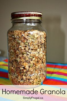 Sprinkling some homemade granola over yogurt and eating it, is one of my favourite ways to start my day! I love having it on hand all the time for easy snacking too! Here's my recipe for the yummy homemade granola I've been enjoying lately! [amd-...