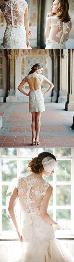 38 Stunning Lace Back Wedding Dresses - Praise Wedding
