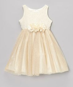 Take a look at this Ivory Sparkle Tulle Dress - Toddler & Girls by Sweet Heart Rose on #zulily today!
