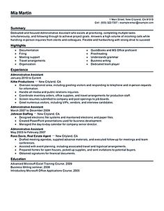 Entry Level Administrative Assistant Resume Unique Resume Examples Job Objective #examples #objective #resume .