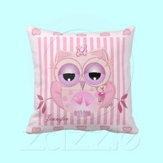 Baby Owl Pillow with Name