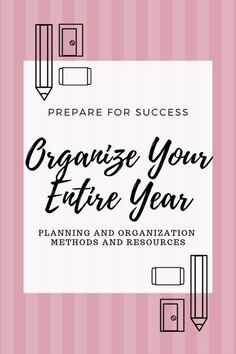 Organize Your Entire Year - Planning For Success Planning and organization resources so you can prepare for a successful year! Get Your Life, Organize Your Life, Self Development, Personal Development, Planner Tips, Happy Planner, Life Organization, Organizing Life, Calendar Organization