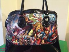 Comic book bag. I'd seen the shoes on Pinterest months ago and decided to try it on a handbag. Take a cheap handbag,  plenty of mod podge and your favourite comic book.