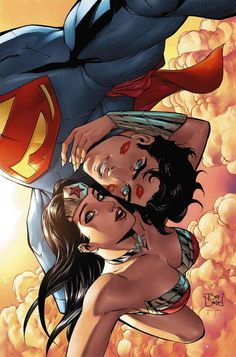 Art work Warren Louw -Selfie de Superman y la Mujer maravilla