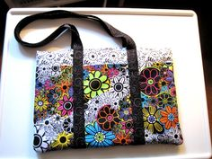 tote bag I made just loved the fabric