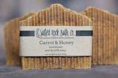 Carrot & Honey Cold Process Soap All Natural  by SaltedRockBathCo