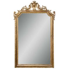 $2324 - French Carved Pier Mirror | From a unique collection of antique and modern pier mirrors and console mirrors at http://www.1stdibs.com/furniture/mirrors/pier-mirrors-console-mirrors/