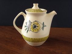 Mid Century Stavangerflint Bambus of Norway coffee or tea pot from the 1960s, design by Inger Waage by VintagemitSahne on Etsy