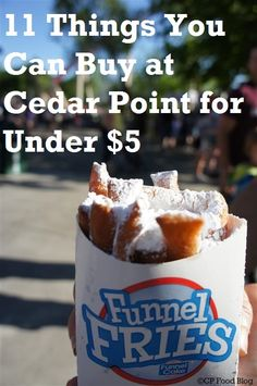 Visiting Cedar Point and looking to dine on a budget? These 11 food items can be…