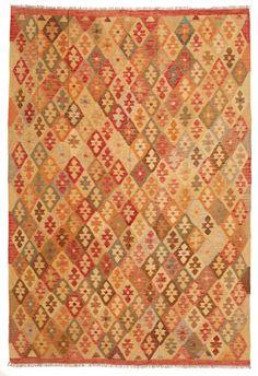 Kilim Afghan Old style carpet 200x291
