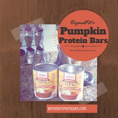 BeyondFit's Homemade Protein Pumpkin Bars: Ingredients: - 4 egg whites - 3/4 cup pumpkin - 1 tsp vanilla extract - 3-4 tbs stevia (sweeten to taste) - 1/4 cup oat bran - 2 scoops of protein powder - 1/2 tsp of cinnamon - 2 tsp of pumpkin pie spice - 1/4 tsp baking powder - 1/4 cup pecans or walnuts Directions: Bake at 35 for 20-25 minutes!!