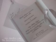Inbjudan Retro Bröllop Mintgrön. Välj papper (16 st) och Färg på Band (8 st)